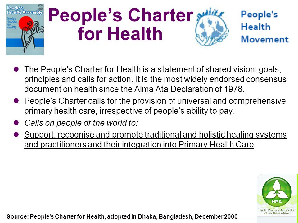 People's Charter for Health