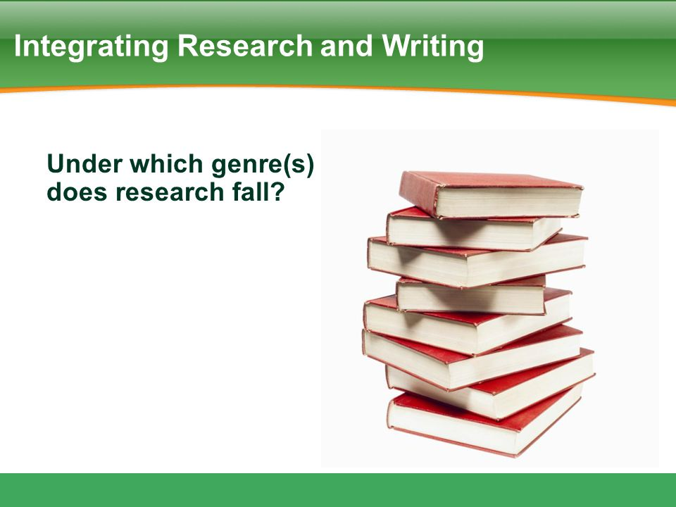 Integrating Research and Writing