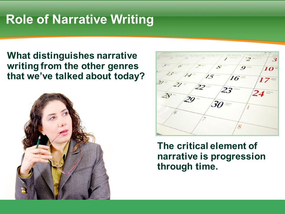 Role of Narrative Writing