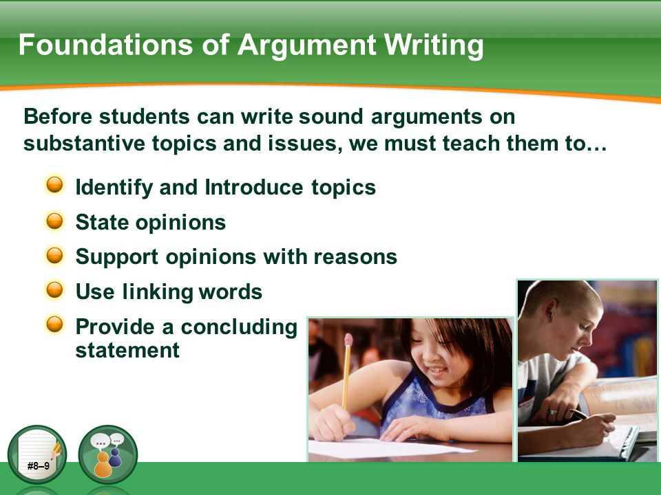 Foundations of Argument Writing