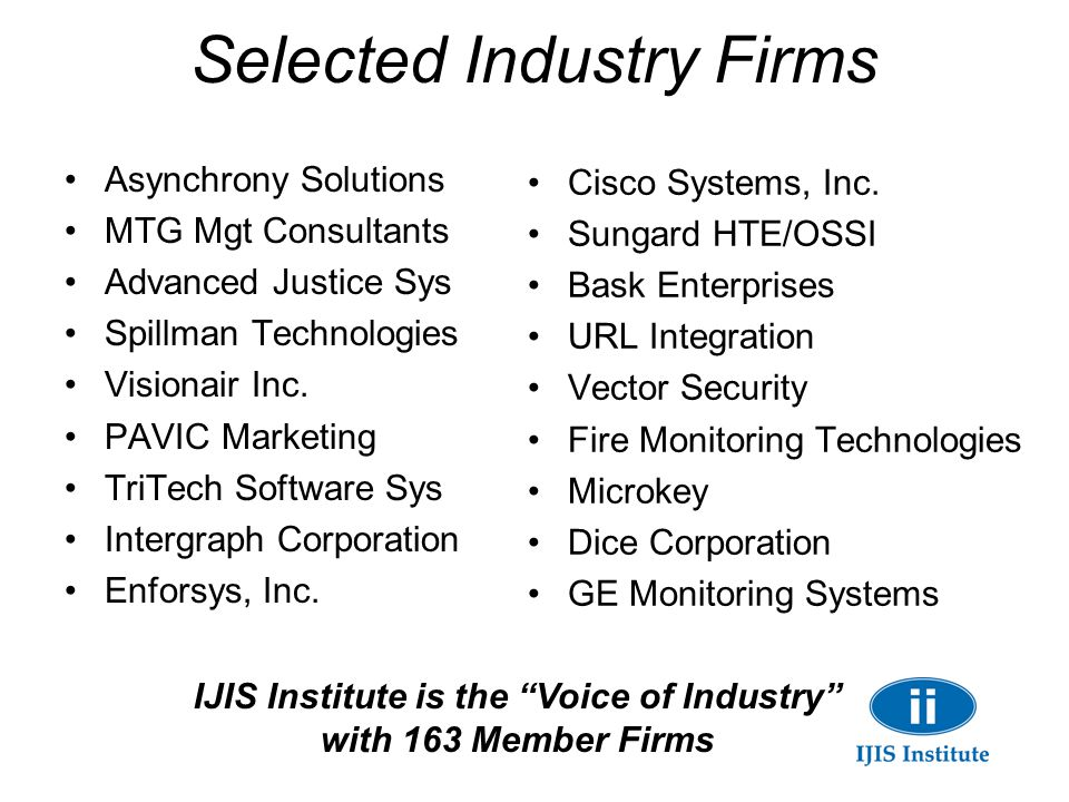 Selected Industry Firms
