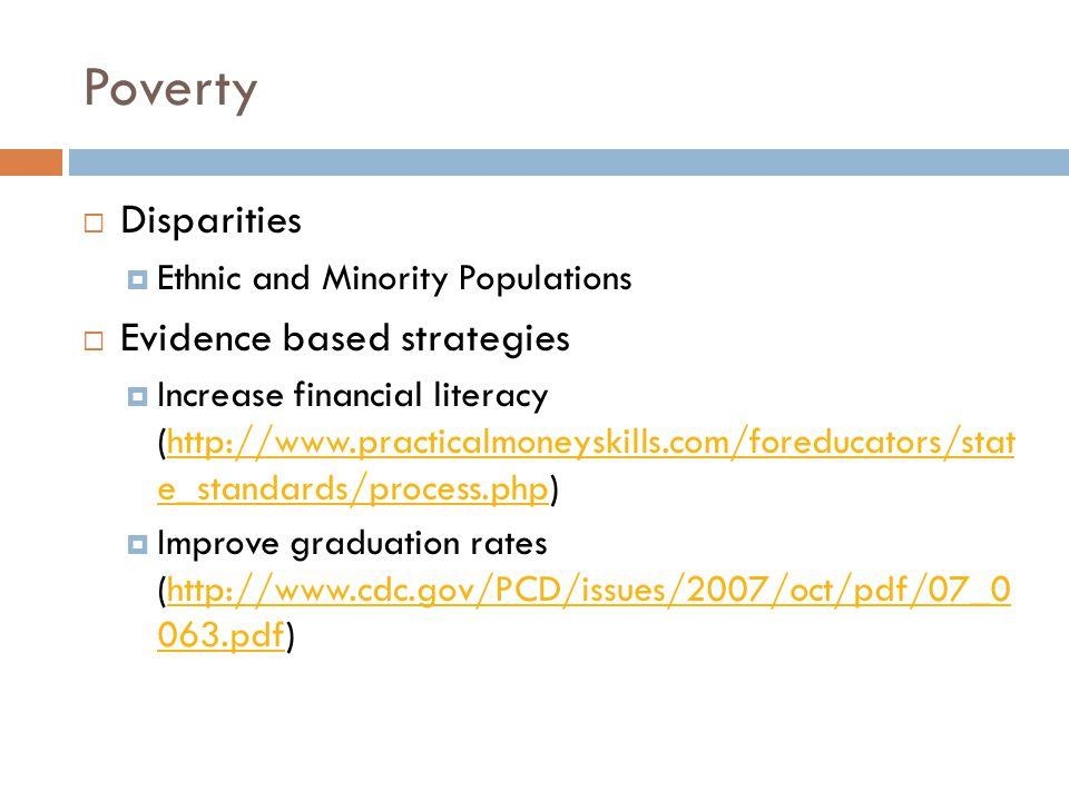 Poverty Disparities Evidence based strategies