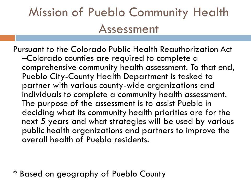 Mission of Pueblo Community Health Assessment