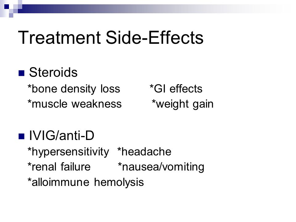 Treatment Side-Effects