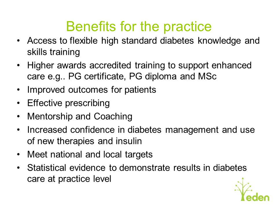 Benefits for the practice