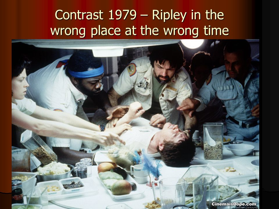 Contrast 1979 – Ripley in the wrong place at the wrong time