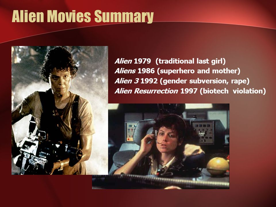 Alien Movies Summary Alien 1979 (traditional last girl)