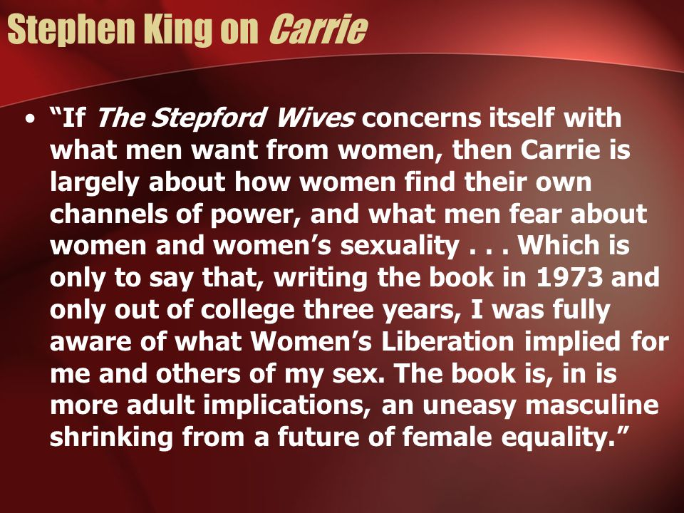 Stephen King on Carrie