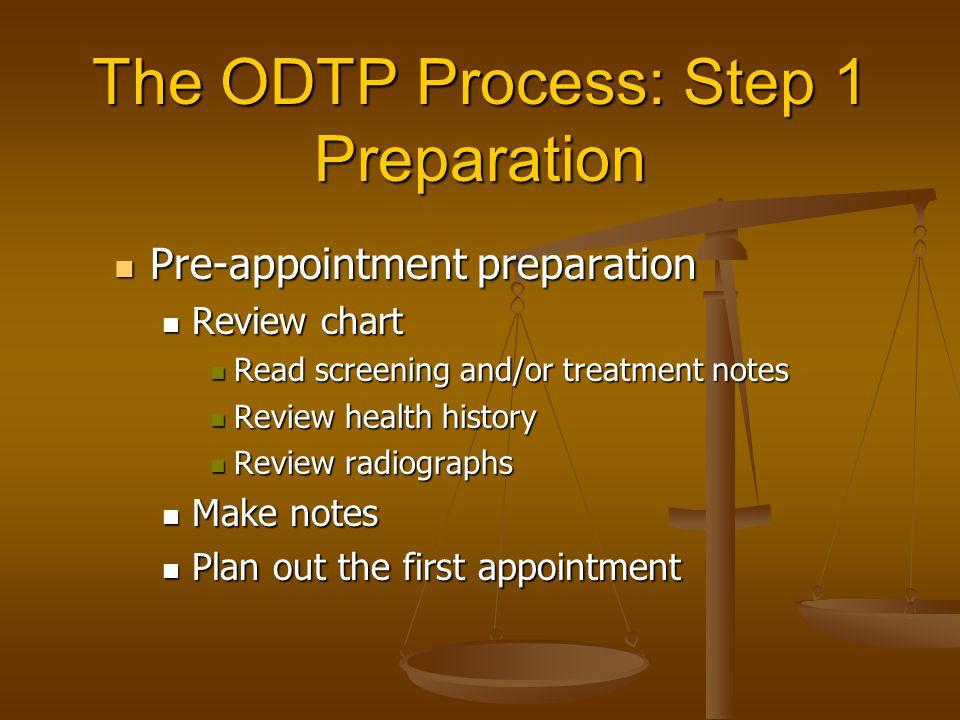 The ODTP Process: Step 1 Preparation
