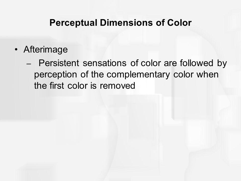 Perceptual Dimensions of Color