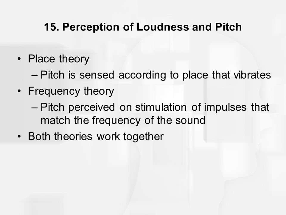 15. Perception of Loudness and Pitch