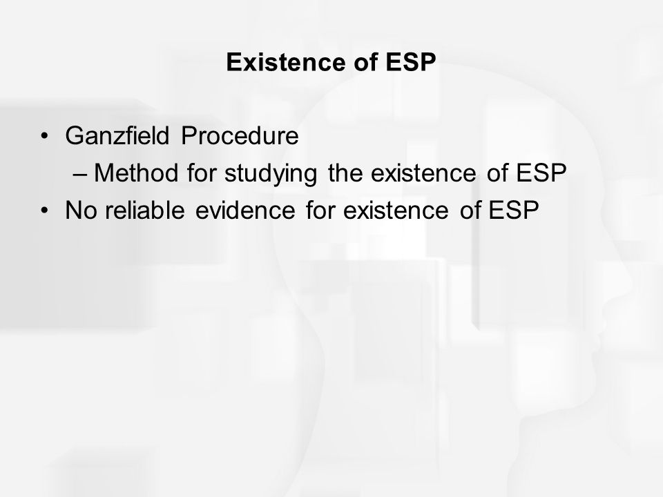 Method for studying the existence of ESP