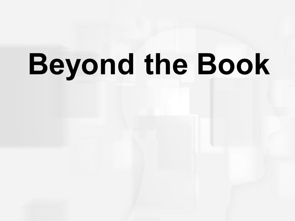 Beyond the Book