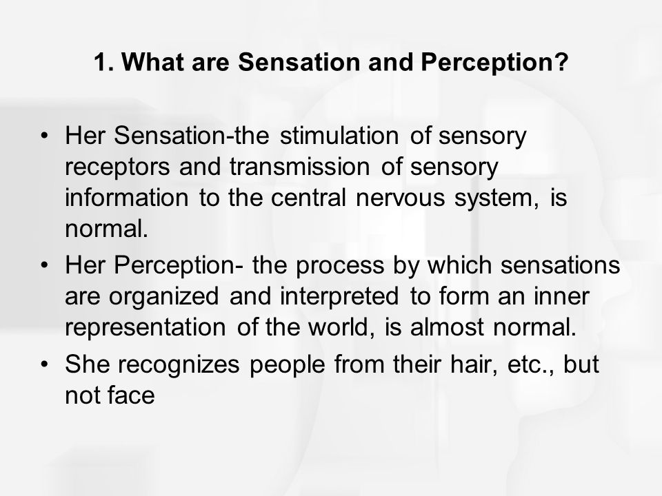 1. What are Sensation and Perception