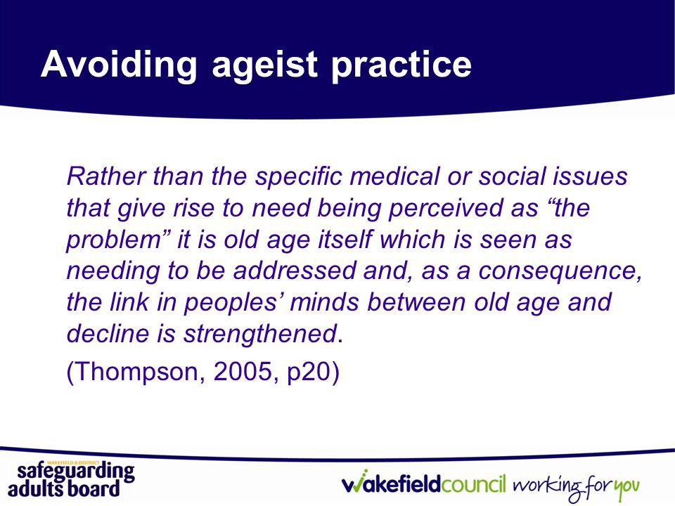 Avoiding ageist practice