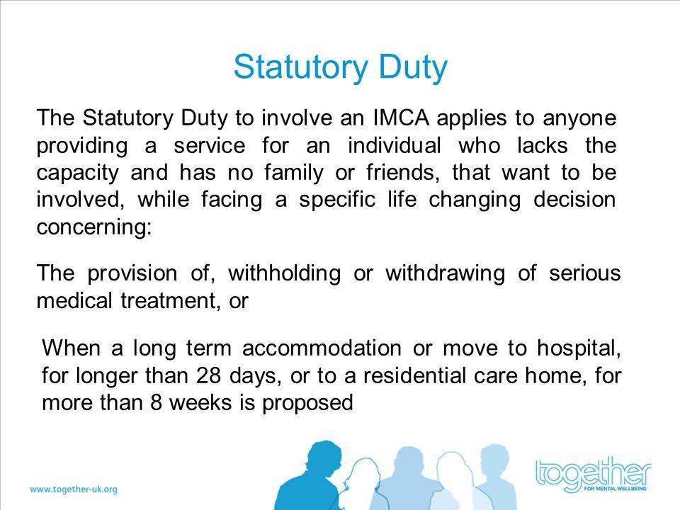 Statutory Duty