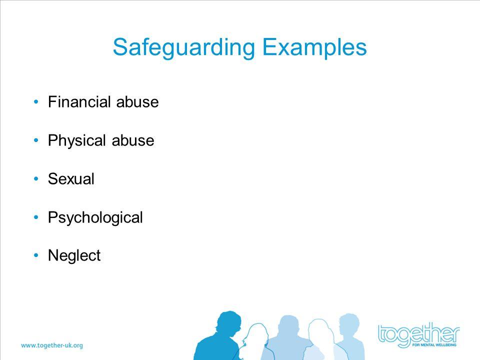 Safeguarding Examples