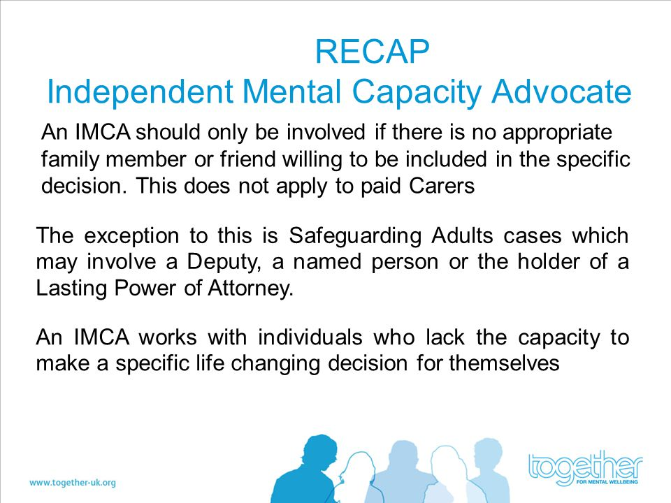 RECAP Independent Mental Capacity Advocate