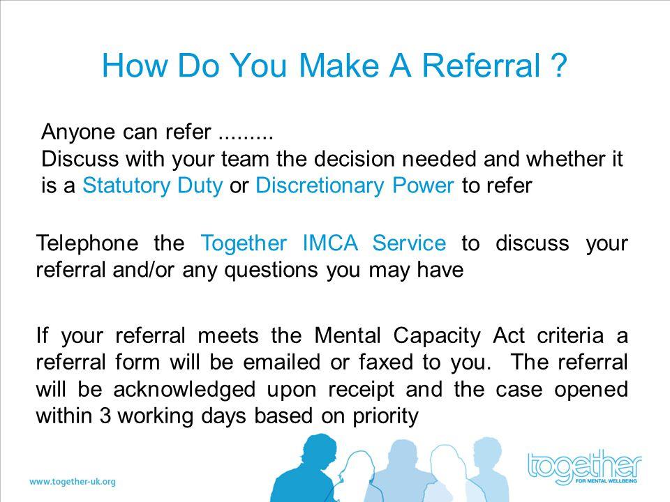 How Do You Make A Referral
