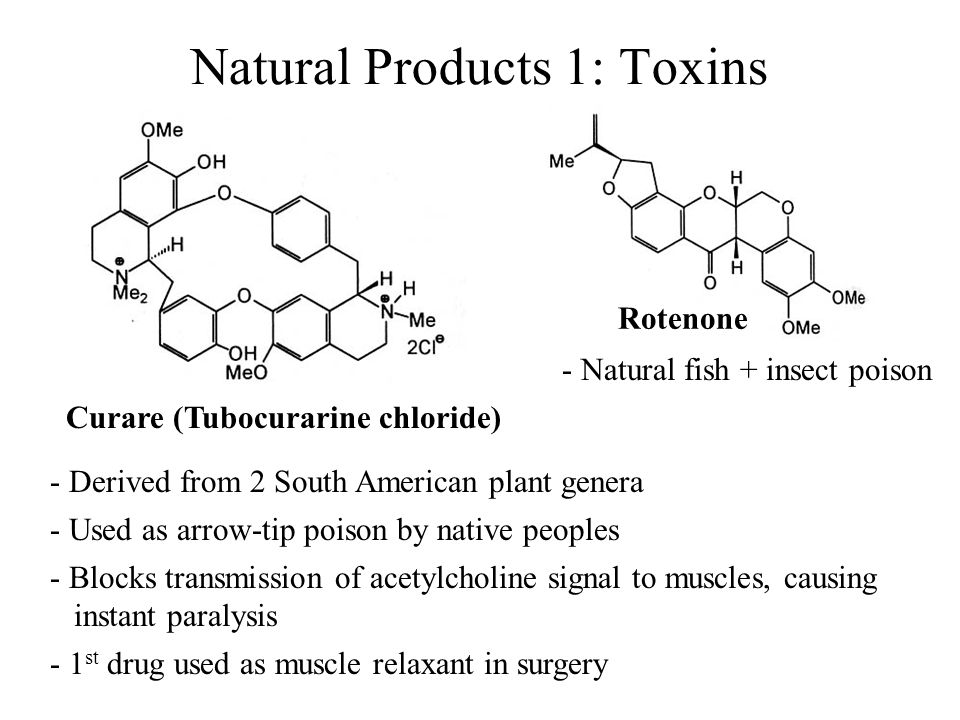 Natural Products 1: Toxins