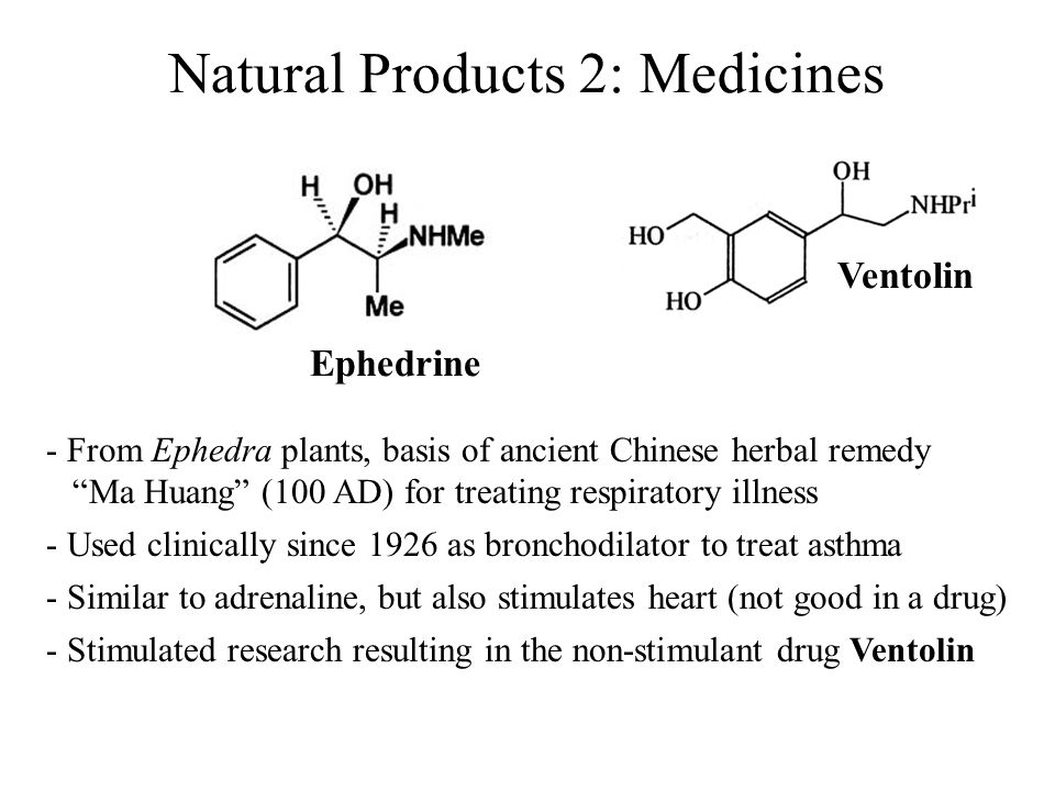 Natural Products 2: Medicines