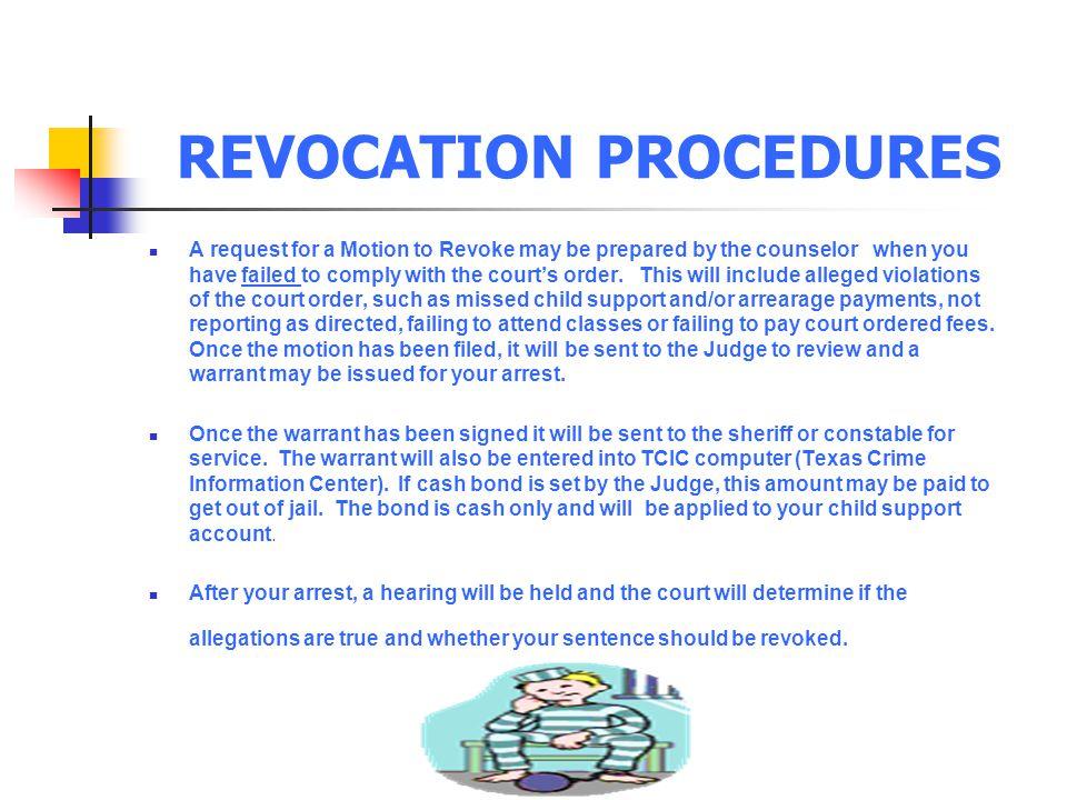 REVOCATION PROCEDURES