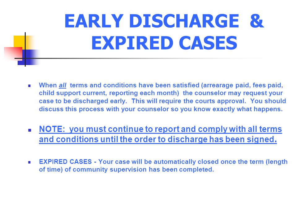 EARLY DISCHARGE & EXPIRED CASES