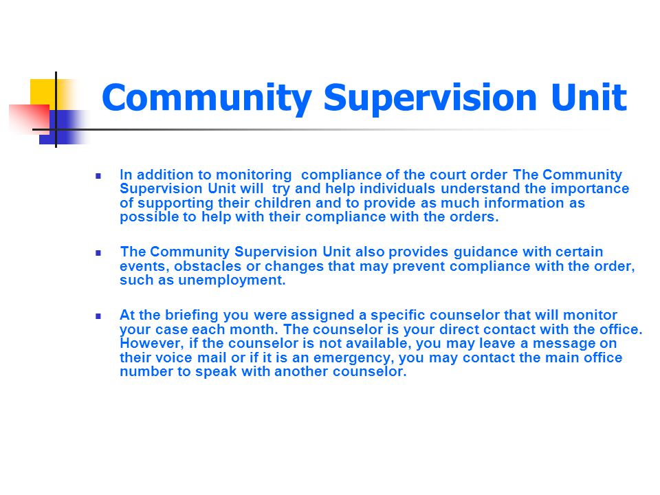 Community Supervision Unit
