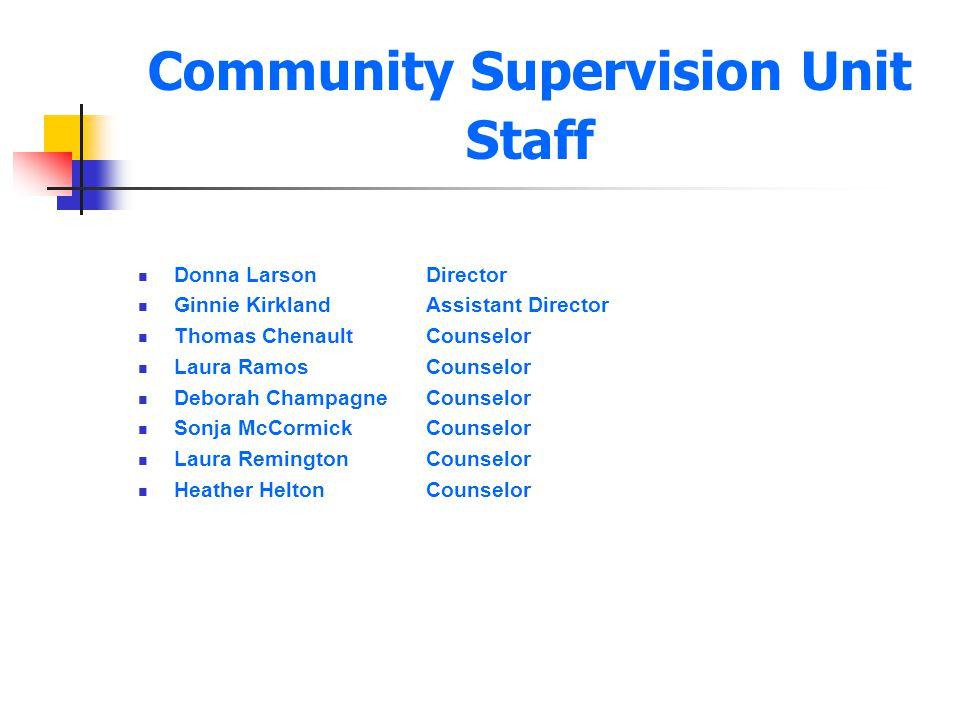 Community Supervision Unit Staff