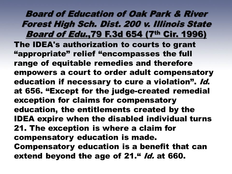 Board of Education of Oak Park & River Forest High Sch. Dist. 200 v