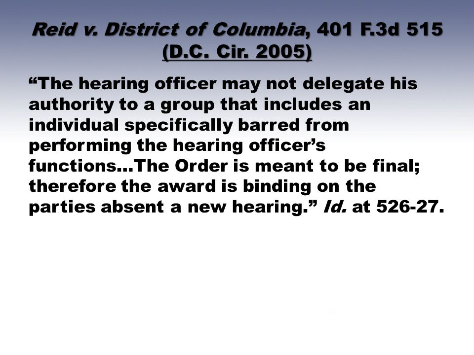 Reid v. District of Columbia, 401 F.3d 515 (D.C. Cir. 2005)
