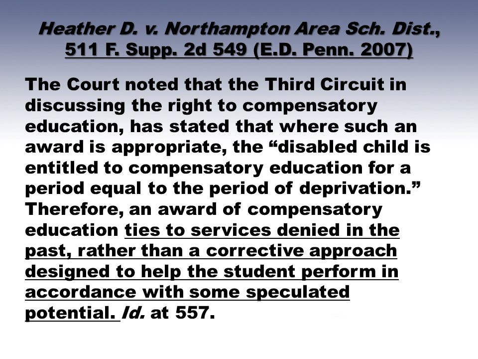 Heather D. v. Northampton Area Sch. Dist. , 511 F. Supp. 2d 549 (E. D