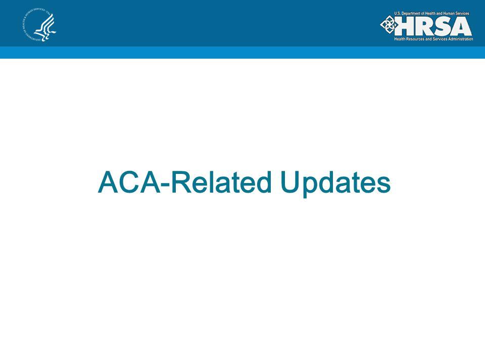 ACA-Related Updates