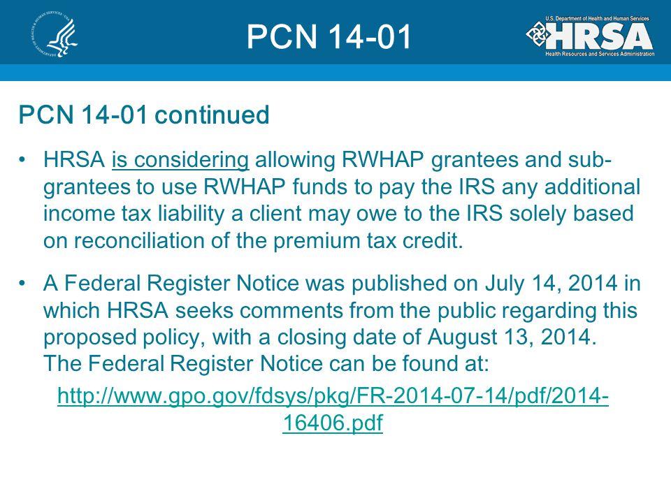 PCN 14-01 PCN 14-01 continued.