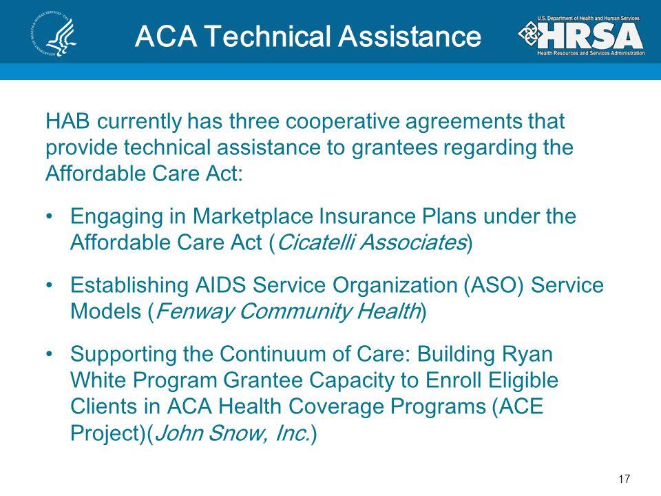 ACA Technical Assistance
