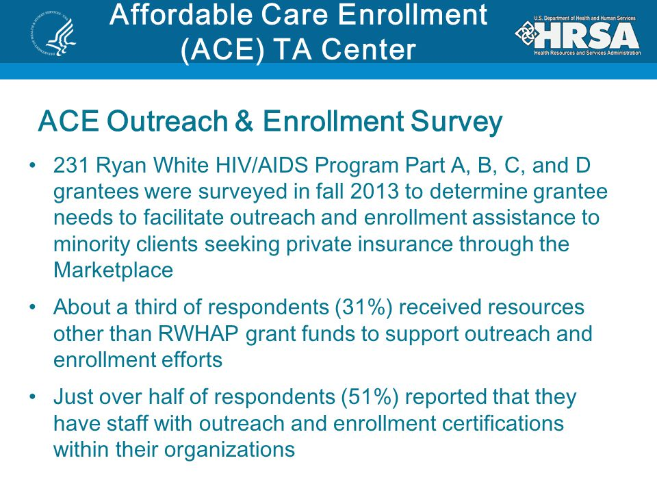 Affordable Care Enrollment (ACE) TA Center