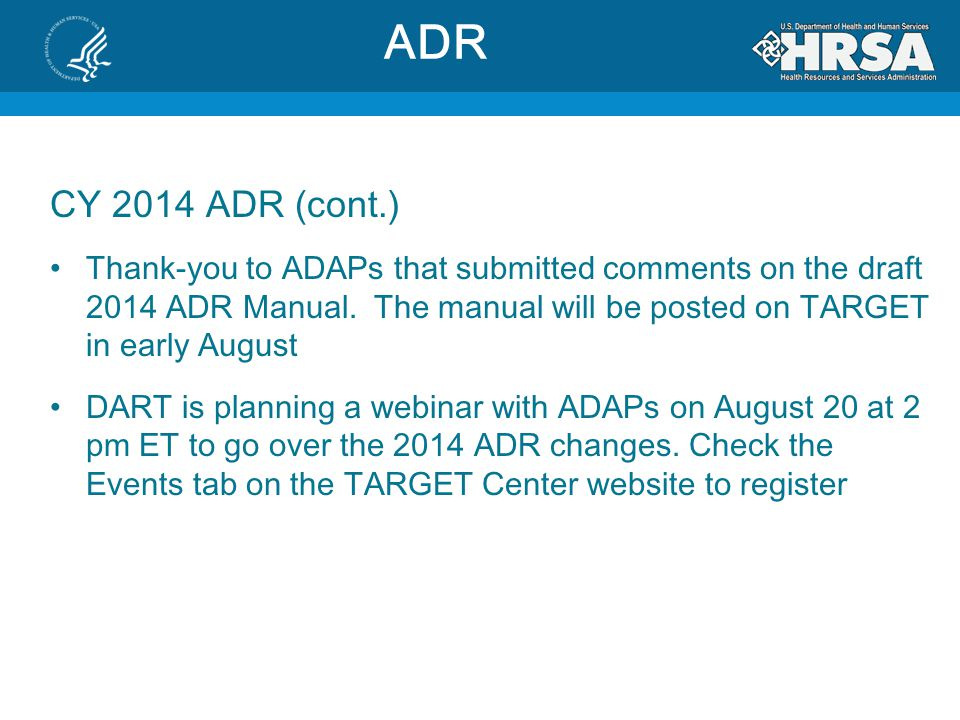 ADR CY 2014 ADR (cont.)
