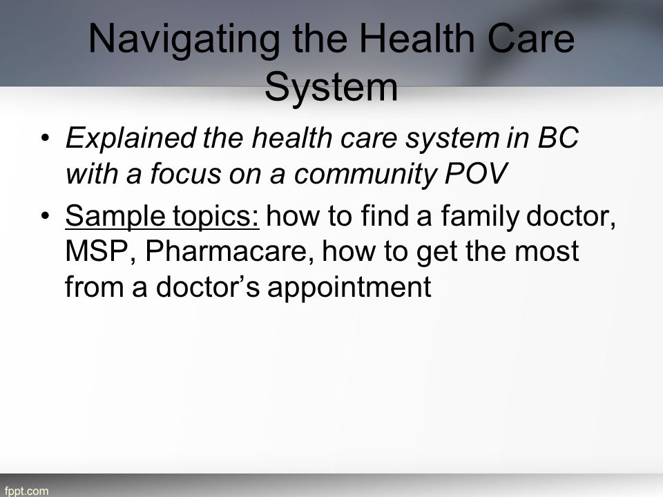 Navigating the Health Care System