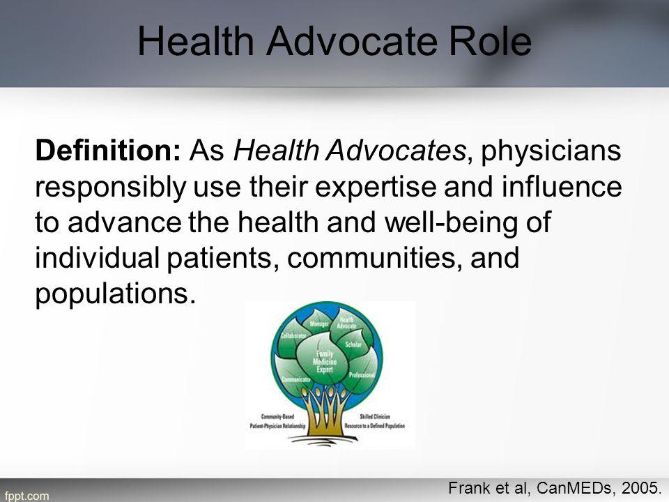 Health Advocate Role