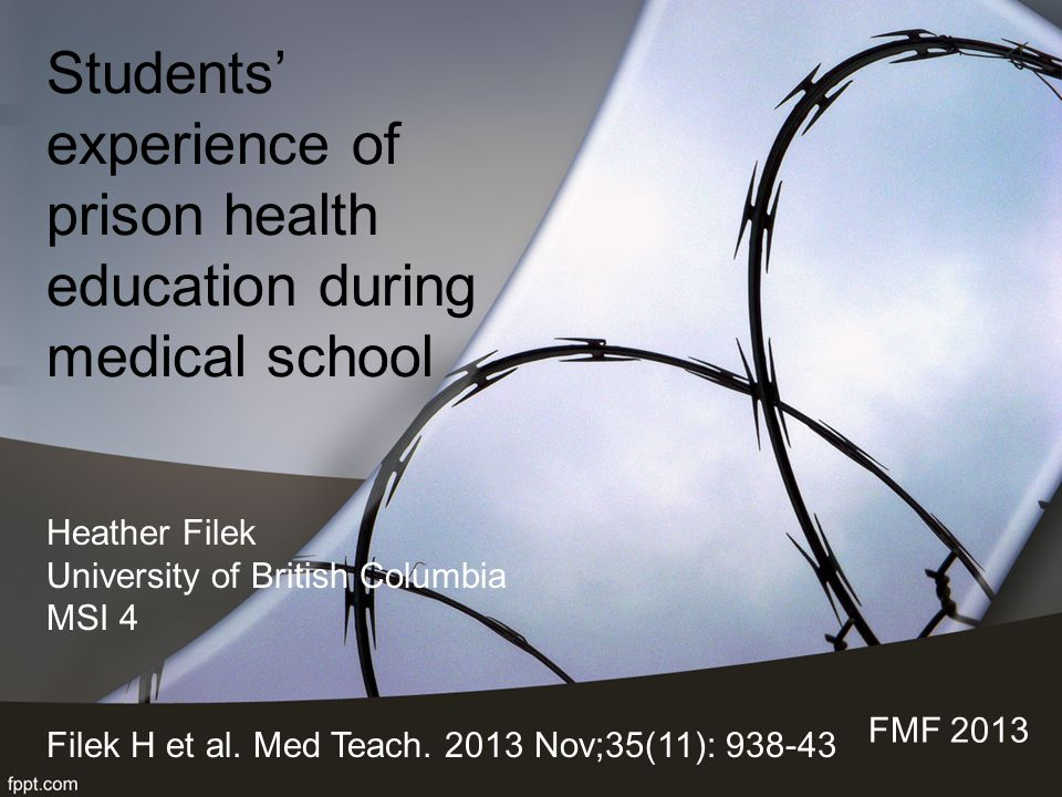 Students' experience of prison health education during medical school