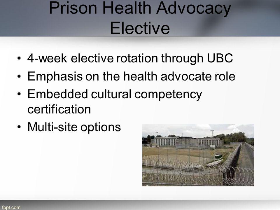 Prison Health Advocacy Elective