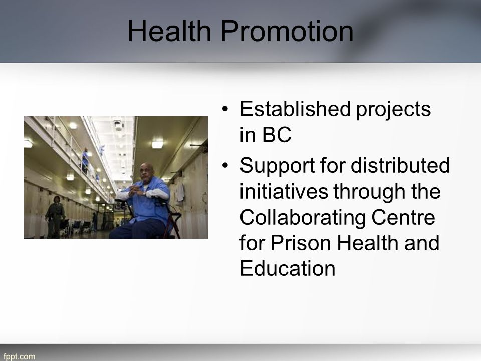 Health Promotion Established projects in BC