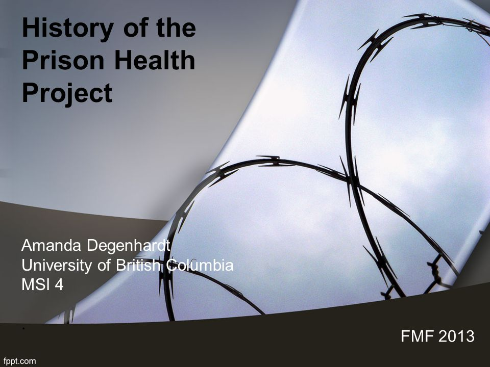 History of the Prison Health Project