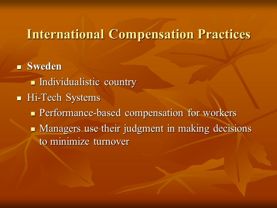 International Compensation Practices