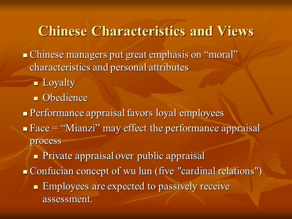 Chinese Characteristics and Views