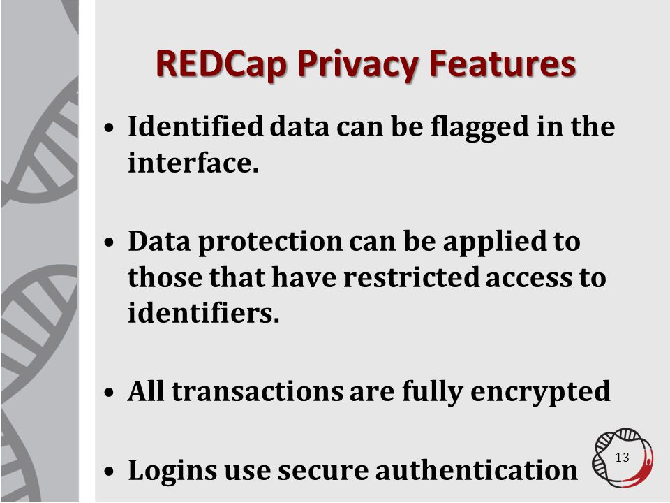 REDCap Privacy Features