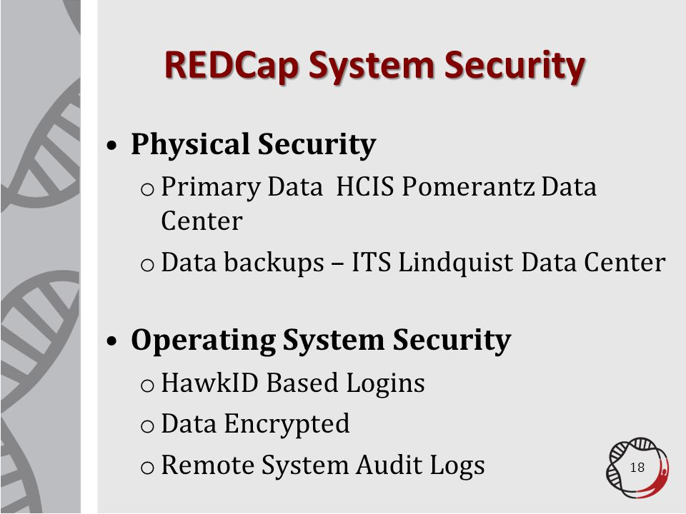 REDCap System Security