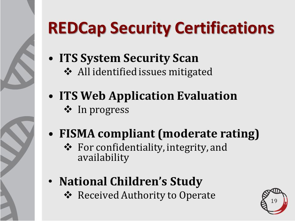 REDCap Security Certifications