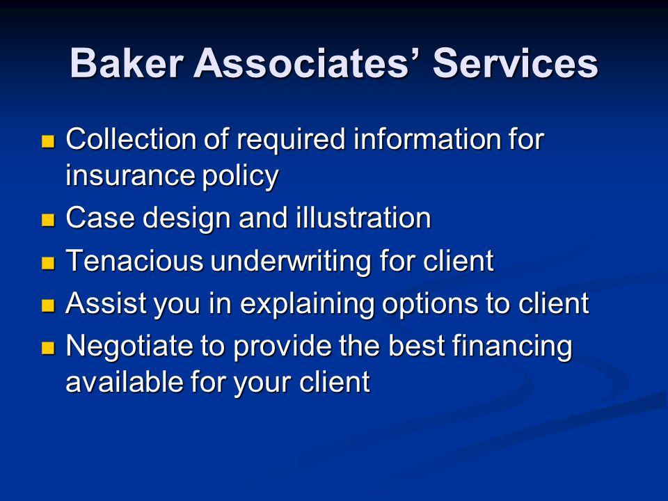 Baker Associates' Services