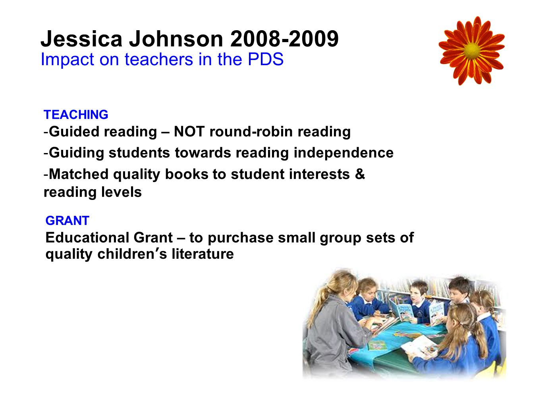 Jessica Johnson 2008-2009 Impact on teachers in the PDS